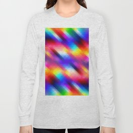 Abstract Colorful Funky Squares Pattern Long Sleeve T-shirt