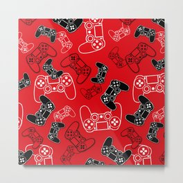 Video Games Red Metal Print