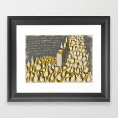 A WEIRD DREAM (with text) Framed Art Print