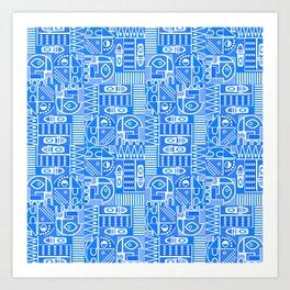 GeoPrint Pattern Art Print