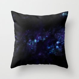 hushed century - planet and starfield Throw Pillow