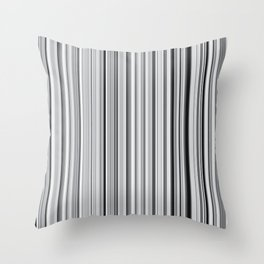 Old Skool Stripes - 50 Shades of Gray Throw Pillow