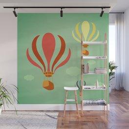 Hot Air Balloon Ride Wall Mural