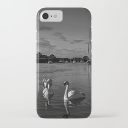 Summer evening swans iPhone Case