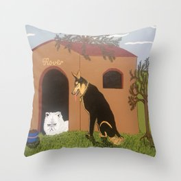 Ornery, Unwelcome House Guest Throw Pillow