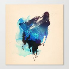 Alone as a wolf Canvas Print