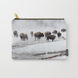 Yellowstone National Park - Bison Herd Carry-All Pouch