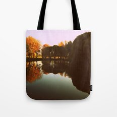 trees reflections Tote Bag