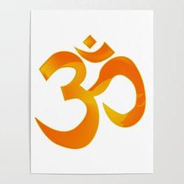 Orange Om Poster