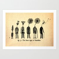 The Seven Ages of Mandelion Art Print