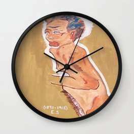 NUDE egon schiele by T'Mculus' Soul Wall Clock