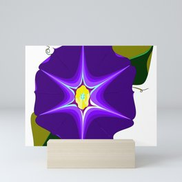 A Large Purple Morning Glory, Wildflower Series Mini Art Print