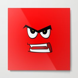 Angry Man Cartoon Metal Print