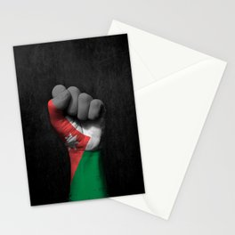 Jordanian Flag on a Raised Clenched Fist Stationery Cards