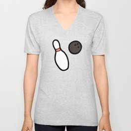 Bowling for Pins Pattern Unisex V-Neck