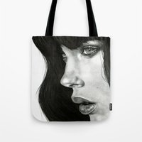 hair Tote Bags featuring Girl by BlackNYX