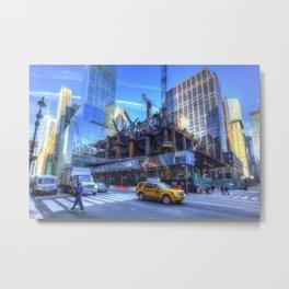 Construction New York Metal Print
