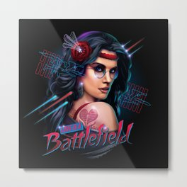 Love is a Battlefield Metal Print