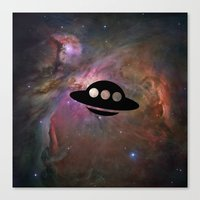 ufo Canvas Prints featuring UFO by Ace of Spades