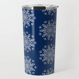 RB Mandala Design with botanical elements Travel Mug