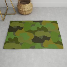 Camo-licious Collection: Gorgeous Green Camouflage Pattern Rug