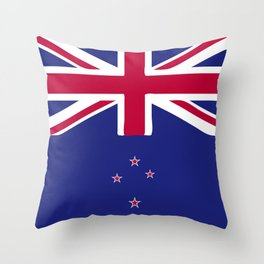 New Zealand flag emblem Throw Pillow