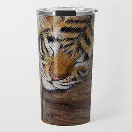 Sleepy Tiger Cub Painting Travel Mug