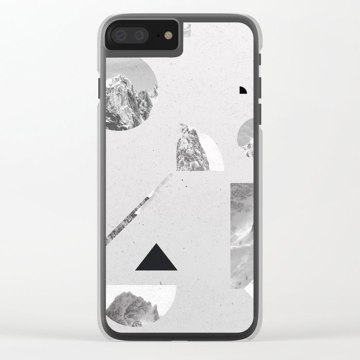 monochromatic Clear iPhone Case