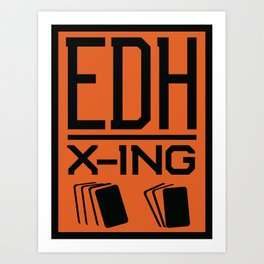 Magic the Gathering inspired EDH poster crossing sign Art Print