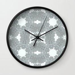 Blue Ice Crystals Wall Clock