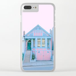 San Francisco Painted Lady Victorian House Clear iPhone Case