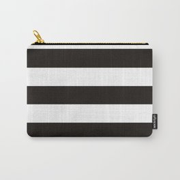 Black raspberry - solid color - white stripes pattern Carry-All Pouch