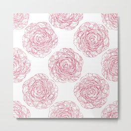 Pattern with roses 2 Metal Print