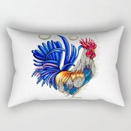 Gallo de las dos lunas Rectangular Pillow