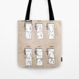 patent - Wheeler - Wrapping or Toilet paper roll - 1891 Tote Bag