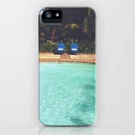 Two Chairs at the Pool iPhone Case