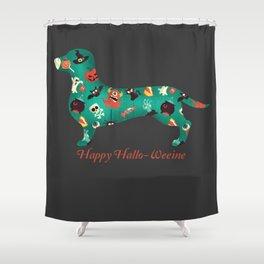 Happy Hallo-Weenie Shower Curtain