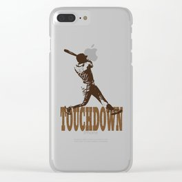 Funny Touchdown Baseball graphic Clear iPhone Case