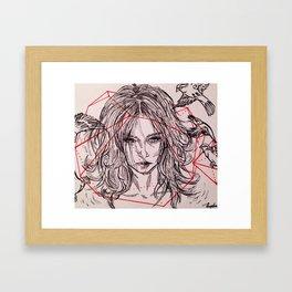 Boxed vibes Framed Art Print