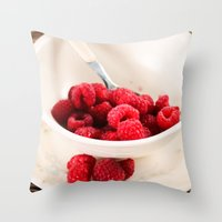 breakfast Throw Pillows featuring Breakfast by Donna M Condida