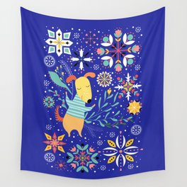 Happy Dog Year Wall Tapestry