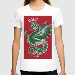 Italy Lover Italian Culture Italian American Dragon Gift Banner T-shirt