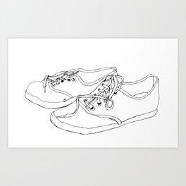 Canvas Shoes Sketch Art Print