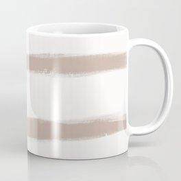 Medium Brush Strokes Horizontal  Nude on Off White Coffee Mug