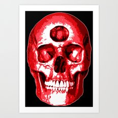 Third Eye Bones (Raw Edition) Art Print