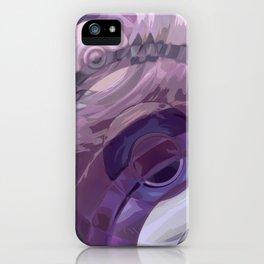 Purple Ripples iPhone Case