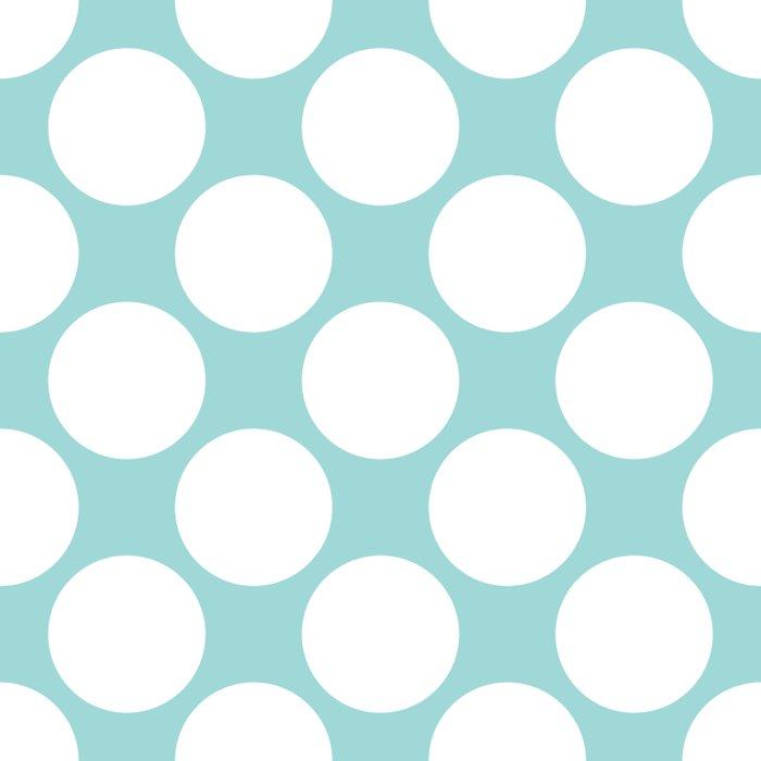 Polka Dots Blue Duvet Cover