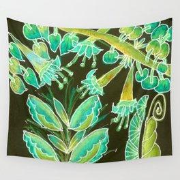 Irish Garden, Lime Green Flowers Dance in Joy Wall Tapestry