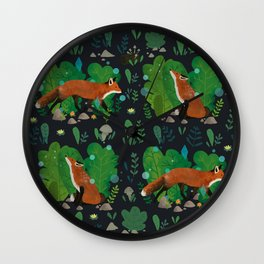 Night in the Magical Forest Wall Clock