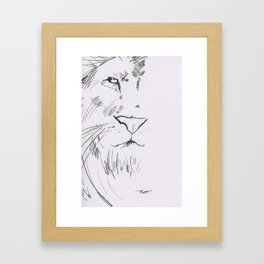 The Lord is a Lion Framed Art Print